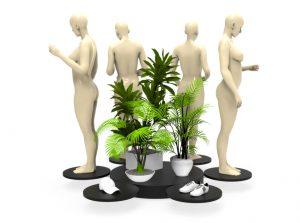 Mouvements Phénix - Support Tournant Mannequins Décoration Vitrine